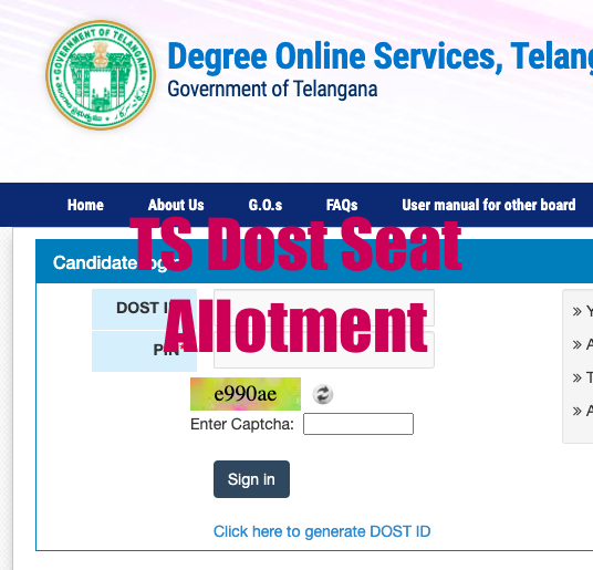 ts dost seat allotment results 2020 link
