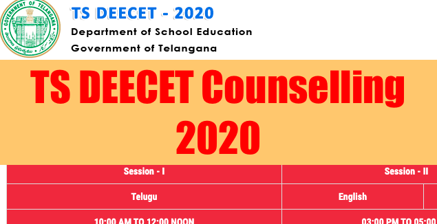 TS DEECET Counselling 2020 Allotment Order Download
