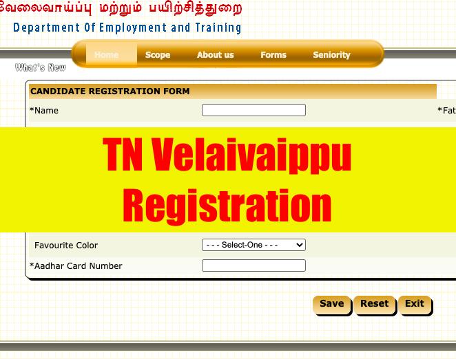 TN Velaivaippu 2021 Registration, Online Renewal