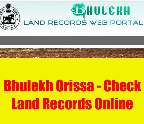 bhulekh odisha land records checking portal