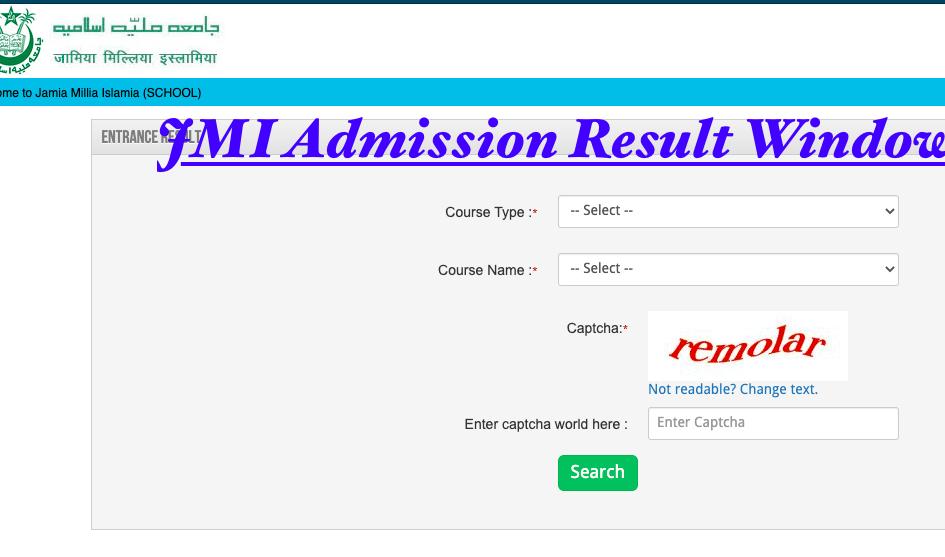 JMI Admission Results 2021 Entrance Exam Merit List