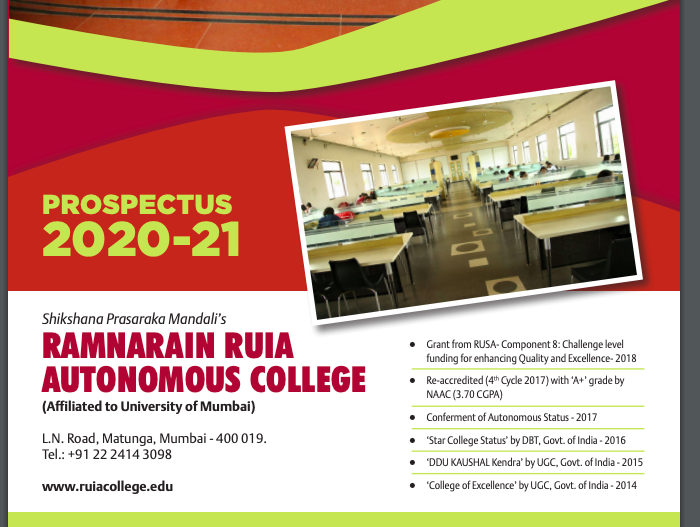 ruia college admission prospectus download 2021 merit list download links to be announced