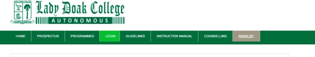 lady doak college rank list 2021-22 download selection list & merit list