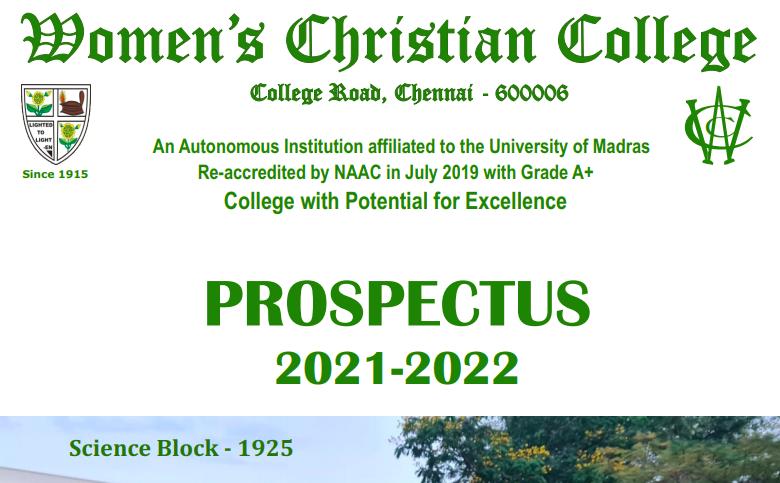 women's christian college selection list 2021-22 wcc merit list