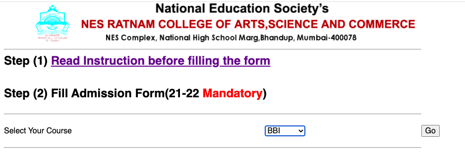 ratnam college online admission form 2021-22 check here @ ratnamcollege.edu.in merit list & cut off