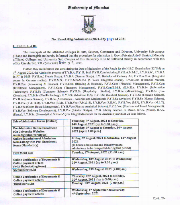 wilson college online admission notice 2021-22 download - check merit list & cut off marks.