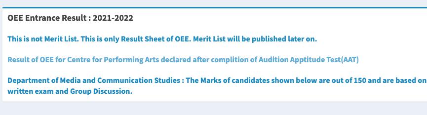 Pune University Merit List 2021-22 download sppu ug pg admission - SPPU OEE Merit List publishing date announced