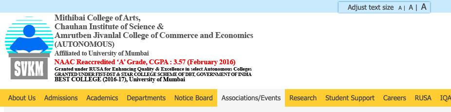 mithibai college merit list 2021-22 admission form download