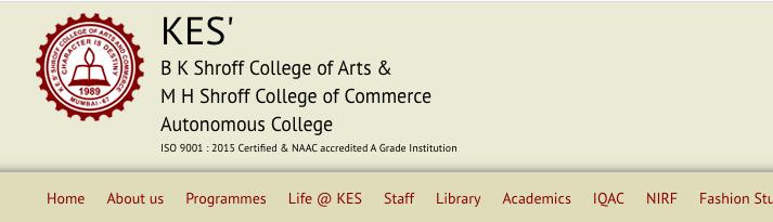 kes shroff college merit list 2021-22 download notice