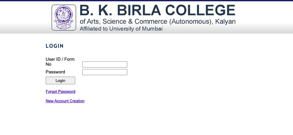 BK Birla College Kalyan Merit List 2021 Check here