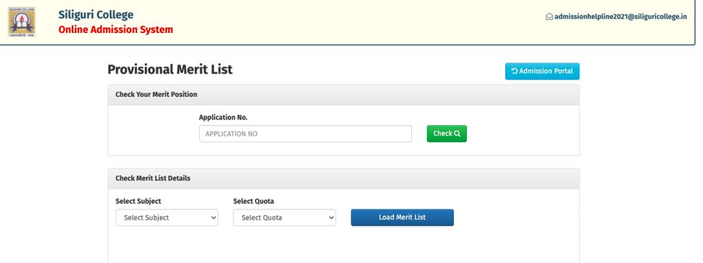 Siliguri College Merit List 2021 download links announced