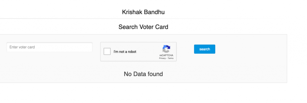krishak bandhu application status check by voter card number online www.krishakbandhu.net