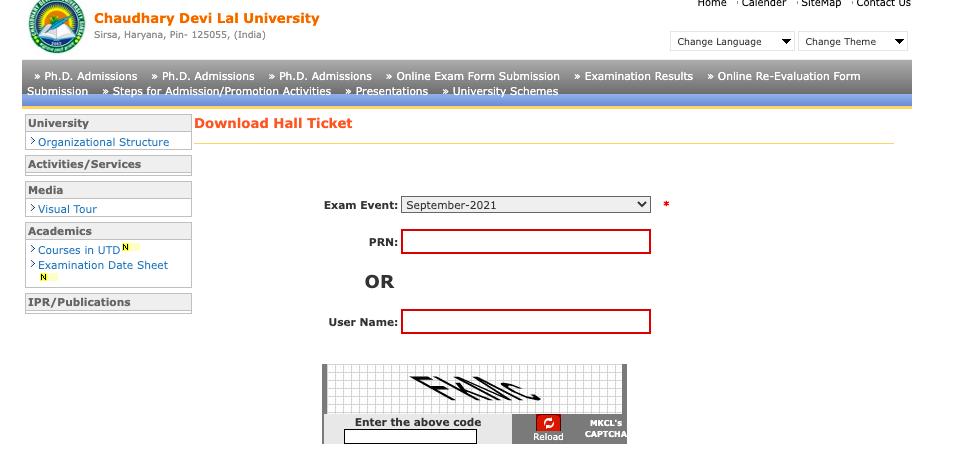 cdlu digitaluniversity.ac admit card download link online